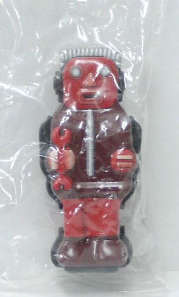 【内袋未開封】ブリキのおもちゃ館 北原コレクション ズーマー・ザ・ロボット レッドブラウン 明治チョコレート 食玩