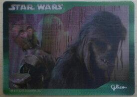 グリコ×スターウォーズキャンペーン ホログラムカードB チューバッカ C-3PO R2-D2