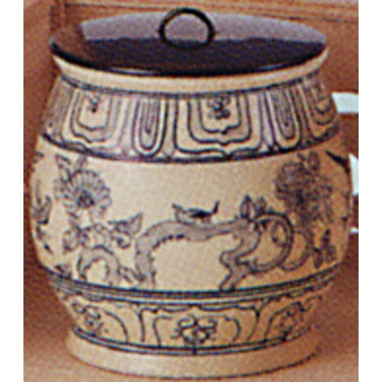 茶道具 安南水指 遊船紋 越南製 水指(茶道具 通販 楽天)