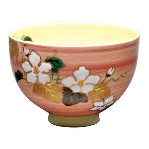 茶道具 抹茶茶碗(まっちゃちゃわん) 茶碗 桃釉 夕顔 見谷 福峰