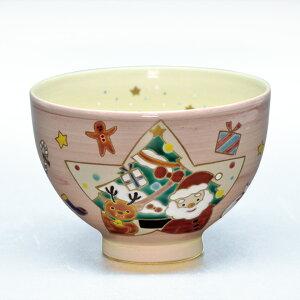 茶道具 抹茶茶碗(まっちゃちゃわん) 茶碗 桃釉 クリスマス 見谷 福峰