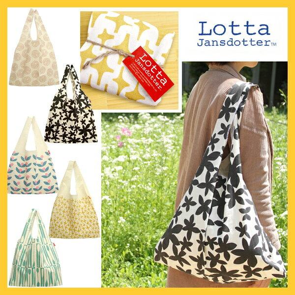 エコバッグ /【Lotta Jansdotter(ロッタ・ヤンスドッター)】北欧デザイン エコバッグ[綿100%/コットン/ショッピングバッグ/お買い物袋/マザーズバッグ/携帯バッグ/折りたたみ/トートバッグ/プレゼント/プレーリードッグ]
