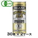 オーガニック ジンジャーエール250ml×30本×2ケース ヒカリHIKARI光食品