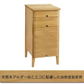 デスクラック サイドチェスト 引出しラック 袖ラック 天然木 完成品(幅36cm 高さ72cm)セレス413 曙工芸