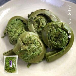 漬物 こごみ しょうゆ漬 140g×3パックセット 山菜 醤油漬け 美味しい 大ぶりこごみ 漬け物 おつまみ SH