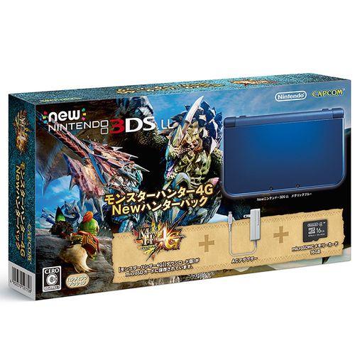 【New 3DSLL】New ニンテンドー3DS LL本体 モンスターハンター4G Newハンターパック