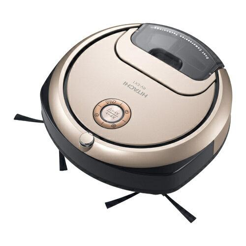【掃除機】 日立 minimaru RV-EX1(N) [シャンパンゴールド]・薄型コンパクトサイズ ・ロボットクリーナー ・「そこだけスポット」ボタン 【976721】