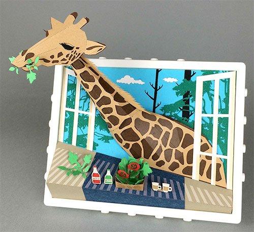 【TOY】paper nanoペーパーナノ フレームインシリーズ キリン PNF-008