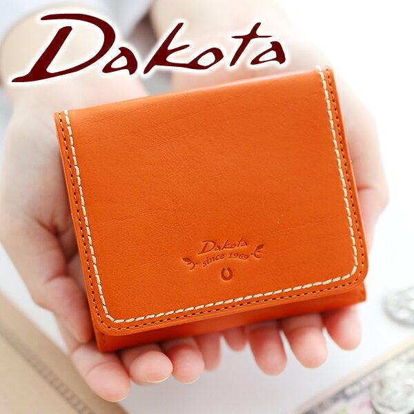 【選べるかわいいノベルティ付】 Dakota ダコタ 財布プレッソ 小銭入れ付き二つ折り財布 0036020(革のお手入れ方法本付)レディース 財布 二つ折り ギフト かわいい おしゃれ プレゼント