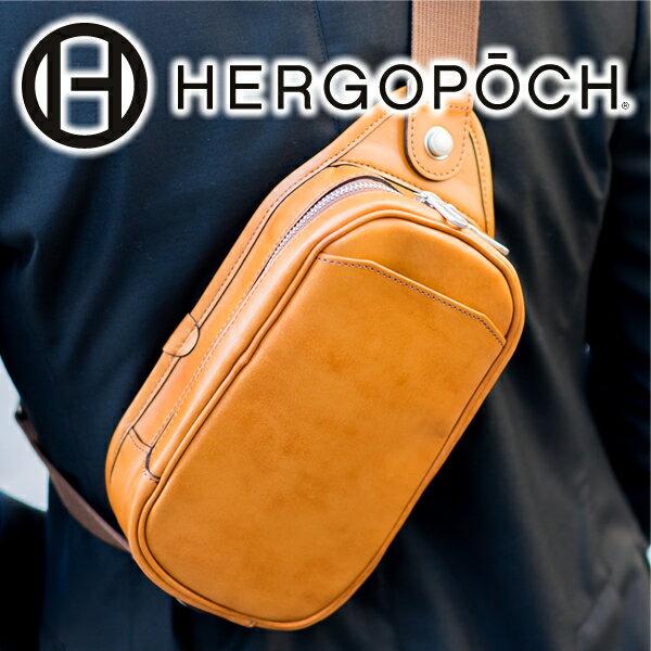 【選べる実用的ノベルティ付】 HERGOPOCH エルゴポック バッグ06 Series 06シリーズ ワキシングレザーミニショルダーバッグ 06-MS(革のお手入れ方法本付)メンズ ショルダーバッグ ボディバッグ 日本製 ギフト プレゼント