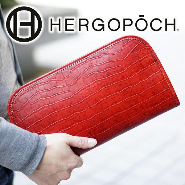 【選べる実用的ノベルティ付】 HERGOPOCH エルゴポック バッグ06 Series 06シリーズ ワキシングレザークラッチバッグ 06C-CL(革のお手入れ方法本付)メンズ バッグ 本革 クラッチバッグ セカンドバッグ 日本製 ギフト プレゼント
