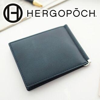 HERGOPOCH エルゴポック wallet 06 Series 06 series side thing leather money clip 06W-MC men wallet money clip bill scissors articles エルゴポック HERGOPOCH