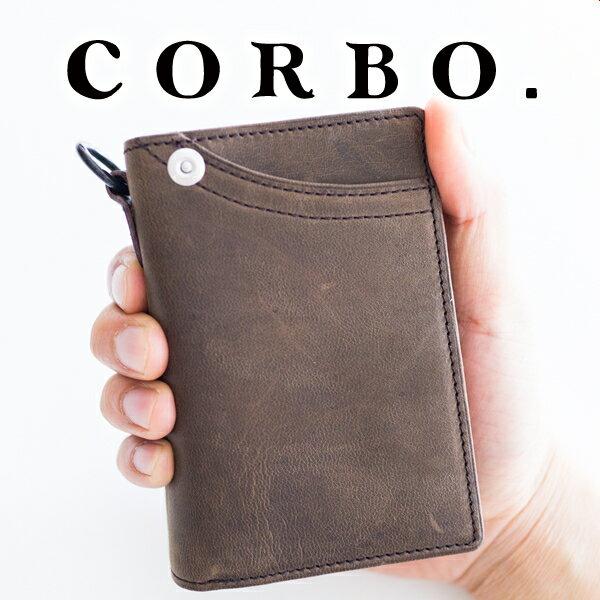 【実用的Wプレゼント付】 CORBO. コルボ-CLAY Works Horse- クレイワークスホース小銭入れ付き二つ折り財布(縦型) 8JF-9978メンズ財布 2つ折り 財布 メンズ 日本製 ギフト プレゼント