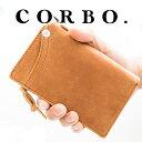 【実用的Wプレゼント付】 CORBO. コルボ 財布-CLAY Works Horse- クレイワークスホースL字ファスナー開閉式(L型) 小銭…