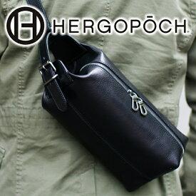 【実用的Wプレゼント付】 HERGOPOCH エルゴポック Merge Series マージシリーズ バスクドレザークラッチショルダーバッグ(クラッチバッグ ボディバッグ) MG-SSRメンズ バッグ 日本製 ブランド