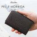 【選べる実用的ノベルティ付】 PELLE MORBIDA ペッレモルビダ 名刺入れBarca バルカ シュリンクレザーカードケース 名…