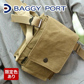 【実用的Wプレゼント付】 BAGGY PORT バギーポート ロウ引きパラフィン ウエストバッグ ACR-441メンズ バッグ ウエストバッグ ウエストポーチ 日本製 ギフト プレゼント ブランド