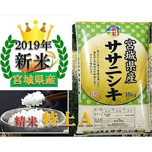 米 宮城県産 ササニシキ 精米 10kg