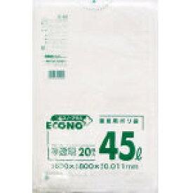 [3箱から送料無料][事業者限定] エコノプラス 薄口E-40[45L]半透明[ヨコ650×タテ800×0.011mm][20枚入×50冊][日本サニパック正規代理店][同一メーカ—3ケース以上送料無料]—(注)宛先が個人名の場合はお取り扱いできません