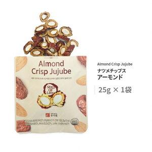 なつめチップ【報恩】アーモンド入りなつめチップ 25gx1袋(Almond crisp jujube) 韓国産無添加自然乾燥なつめにアーモンドを入れてカット、最高の味を生み出したチップス ■ 韓国ボウンの特産品