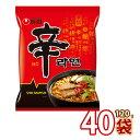 (01001)【S】【農心】辛ラーメン ★1BOX ★ (40袋入り) 韓国食品 輸入食品 韓国食材 韓国料理 韓国ラーメン 非常食品 …
