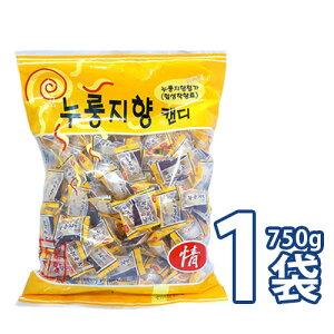 【送料無料!】おこげ飴(ヌルンジ飴)750gx1袋【大袋】 韓国飴 お焦げ味飴 [業務用] キャンディー お菓子 (09530x1)