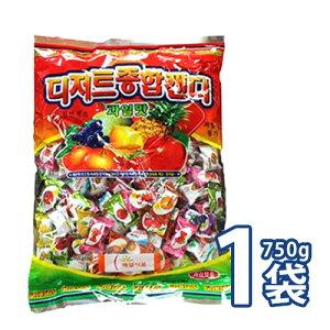 (09551)果物味キャンディー詰め合わせ 750g【大袋】 ■ 韓国飴 フルーツ飴 [業務用] キャンディー お菓子  ★★