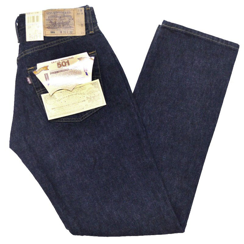 LEVI'S(リーバイス)【MADE IN USA】DEAD STOCK 501(デッドストック アメリカ製 501) ONE WASH(ワンウォッシュ/リンス)