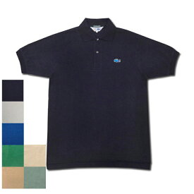【7 COLOR】JAPAN LACOSTE(ジャパンラコステ) 別注ライン S/S 70's DROP TAIL PIQUE POLOSHIRTS(半袖 ドロップテール 鹿の子 ポロシャツ) 青ワニ