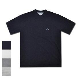 【4 COLOR】JAPAN LACOSTE(ジャパンラコステ) 別注ライン S/S C/N DROP TAIL PIQUE BIG POCKET T-SHIRTS(半袖 ドロップテール 鹿の子 ビッグTシャツ) 青ワニ