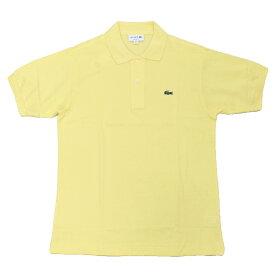 JAPAN LACOSTE(ジャパンラコステ) L1212 S/S PIQUE POLOSHIRTS(半袖 鹿の子 ポロシャツ) YELLOW(6XP)