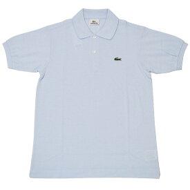 JAPAN LACOSTE(ジャパンラコステ) L1212 S/S PIQUE POLOSHIRTS(半袖 鹿の子 ポロシャツ) RUISSEAU(LIGHT BLUE)(T01)