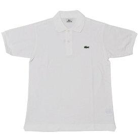 JAPAN LACOSTE(ジャパンラコステ) L1212 S/S PIQUE POLOSHIRTS(半袖 鹿の子 ポロシャツ) BLANC(WHITE)(001)