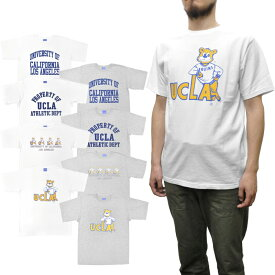 【8 COLOR】UCLA(ユーシーエルエー) 【MADE IN USA】 S/S C/N PRINT TEE SHIRTS(アメリカ製半袖クルーネックプリントTシャツ) GOODWEAR BODY(グッドウェアボディ)
