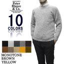 【10 COLOR】PETER BLANCE(ピーターバランス/ブランス) SHETLAND CREWNECK SWEATER(シェットランドクルーネックセータ…