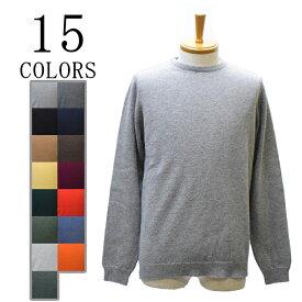 【15 COLORS】WILLIAM LOCKIE(ウィリアムロッキー)×SEPTIS(セプティズ) ダブルネーム LAMBS WOOL CREW NECK SWEATER(ラムウールクルーネックセーター)