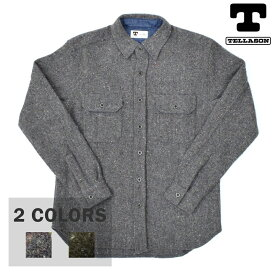 【2 COLORS】TELLASON(テラソン)【MADE IN USA】 CLAMPDOWN WOOL WORK SHIRTS(アメリカ製 長袖 ウール ワーク シャツ) FARIBAULT WOOLEN MILL CO. FABRIC(ファリバルトウーレミルズ ファブリック)