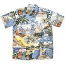 REYN SPOONER(レインスプーナー) 【MADE IN HAWAII】 S/S B/D PULLOVER ALOHA SHIRTS(半袖プルオーバー ハワイ製アロハシャツ) TRANS P…