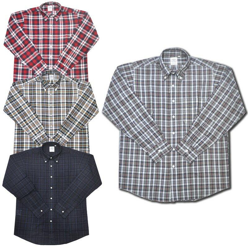 【4 COLOR】THE BAGGY(バギー) L/S B/D SHIRTS(長袖ボタンダウンシャツ) MADRAS CHECK(マドラスチェック)