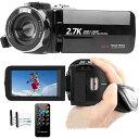 「敬老の日」ビデオカメラYouTubeカメラ vlogカメラ HD2.7K 1080P 60FPS 42MP 18デジタルズーム 3インチスクリーン ウ…