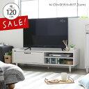 【SALE!10%OFF】エントリーで全品P10倍♪ テレビ台 北欧 幅120cm 幅120 TV台 ローボード テレビボード 白 ホワイト …