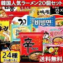 【送料無料】韓国人気ラーメン33種から 4個5種類 選べるラーメン20個セット!!