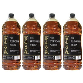 富士乃森 金ラベル 4000ml 4本セット 37度 (THE FUJINOMORI WHISKY) ザ フジノモリ ウィスキー 日本国産 ブレンデット ウイスキー