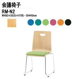 ミーティングチェア RM-N2 W480xD535xH795mm 布張り ループ脚タイプ 【送料無料(北海道 沖縄 離島を除く)】 ミーティングチェア リフレッシュチェア 店舗椅子