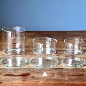 【直火ができるグラス/蓋】GLASS LID 83(KL用)ガラスポット ガラス グラス 容器 蓋 クリア ガラス蓋 受け皿 トレイ ガラストレイ
