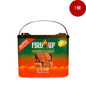 <着火剤>着火剤FIRE-UPファイヤーアップ100キューブバケット[品番:541142A]/薪ストーブ/まきストーブ/着火剤/ファイヤースターター/ファイヤスターター/ファイアースターター/ファイアスタ
