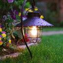 ソーラーライト 屋外 おしゃれ キシマ ガーデンライト スティック&スタンド シェードランプ ソーラー led ランタン …