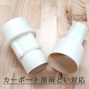 雨水タンク集水器用・角丸40mmアダプター(ジェットライン・カーポート用雨どい等に対応!)