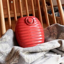 湯たんぽ陶器 美濃焼陶器湯たんぽお手軽サイズ(レッド)冷えとり湯たんぽ