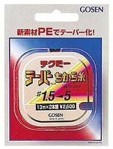 ゴーセン テクミーテーパーちから糸(赤)13m×2本巻き 0.8号以上